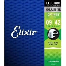 Elixir Optiweb Coated Nickel Plated Electric Guitar Strings