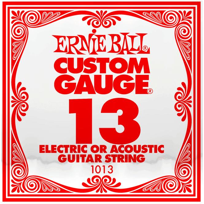 ernie ball 1013 plain steel single guitar string 013 gauge. Black Bedroom Furniture Sets. Home Design Ideas