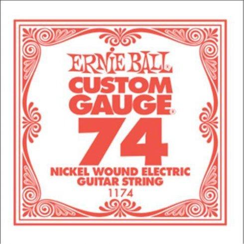 Ernie Ball 1174 Nickel Wound Electric Guitar Single String .074 Heavy Gauge