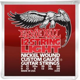 Ernie Ball 12-String Nickel Wound Electric Guitar Strings 09-46 Gauge 2233
