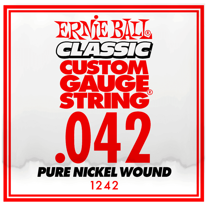 ernie ball 1242 classic slinky pure nickel single guitar string 042w strings from strings. Black Bedroom Furniture Sets. Home Design Ideas