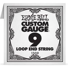 Ernie Ball 1309 Plain Steel Loop End Single String .009