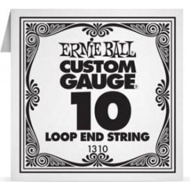 Ernie Ball 1310 Plain Steel Loop End Single String .010