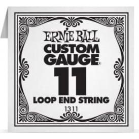 Ernie Ball 1311 Plain Steel Loop End Single String .011