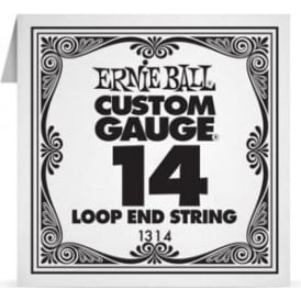 Ernie Ball 1314 Plain Steel Loop End Single String .014