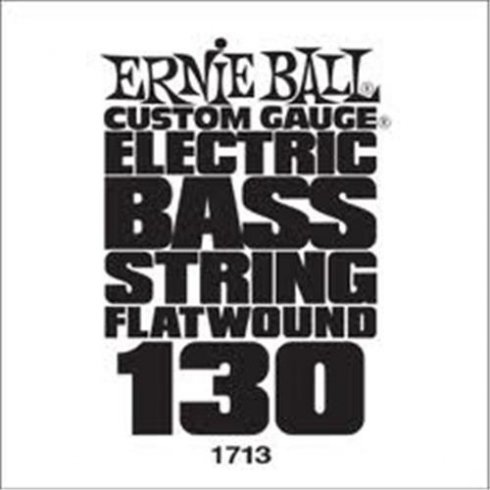 Ernie Ball 1713 Flatwound Chrome Bass Single String .130 Low B