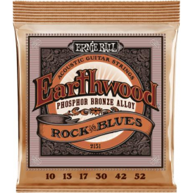 Ernie Ball 2151 Earthwood Phosphor Bronze Acoustic Guitar Strings 10-52
