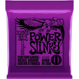 Ernie Ball 2220 Nickel Wound Electric Guitar Strings 11-48 Power Slinky