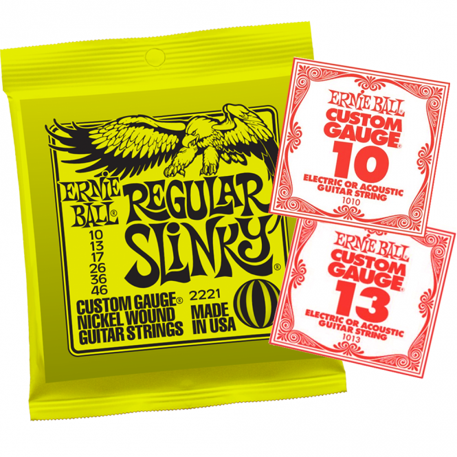 ernie ball regular slinky 10 46 electric guitar string single bundle. Black Bedroom Furniture Sets. Home Design Ideas