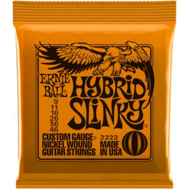 Ernie Ball 2222 Nickel Wound Electric Guitar Strings 09-46 Hybrid Slinky