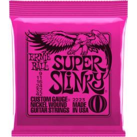 Ernie Ball 2223 Nickel Wound Electric Guitar Strings 09-42 Super Slinky