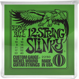 Ernie Ball 2230 Nickel Wound Electric Guitar Strings 08-40 12-String Slinky