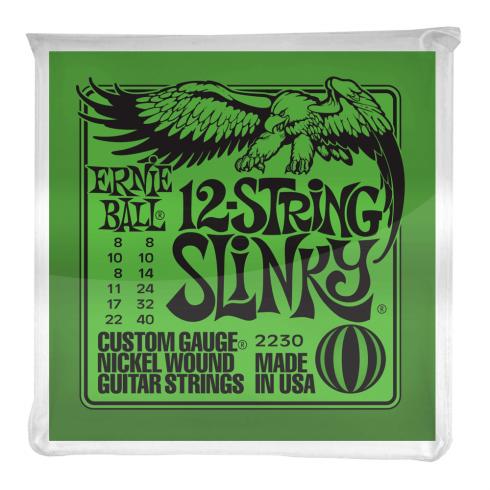 Ernie Ball 2230 Nickel Wound Electric Guitar Strings 8-40 12-String Slinky