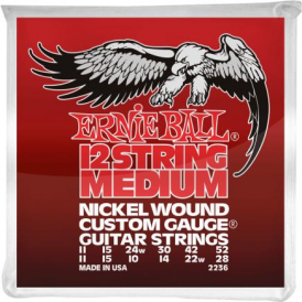 Ernie Ball 2236 Nickel Wound Electric Guitar Strings 11-52 12-String