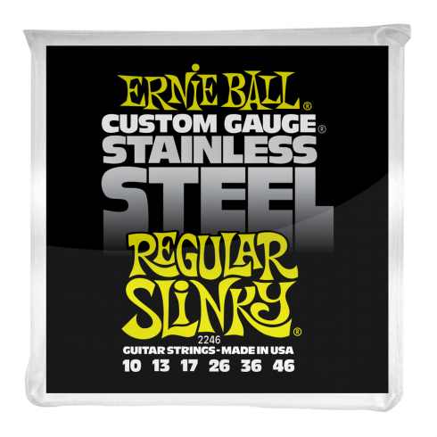 Ernie Ball 2246 Stainless Steel Electric Guitars Strings 10-46 Regular Slinky