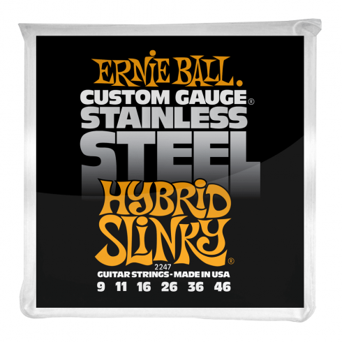 2247 Stainless Steel Electric Guitars Strings 9-46 Hybrid Slinky