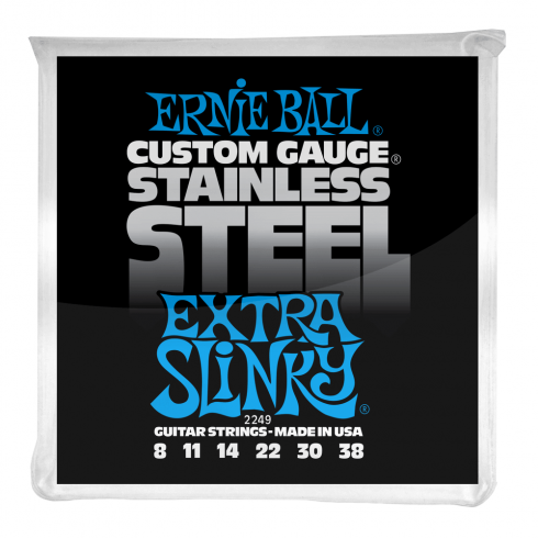 Ernie Ball 2249 Stainless Steel Electric Guitars Strings 8-38 Extra Slinky