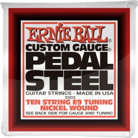 Ernie Ball 2502 Nickel Wound E9 Pedal Steel Strings 13-38 10-String