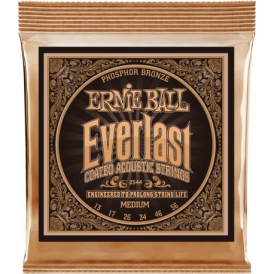 Ernie Ball 2544 Everlast Phosphor Bronze Acoustic Guitar Strings 13-56 Medium