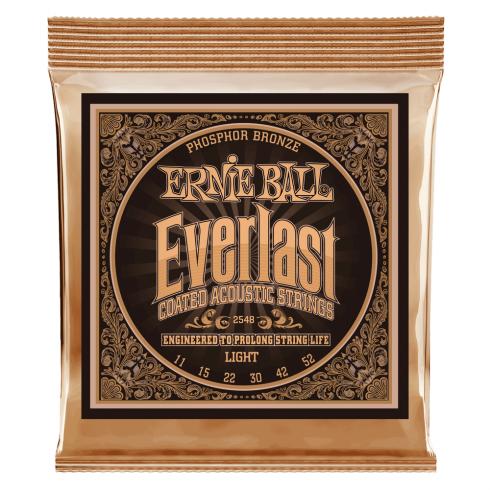 Ernie Ball 2548 Everlast Phosphor Bronze Acoustic Guitar Strings 11-52 Light Gauge