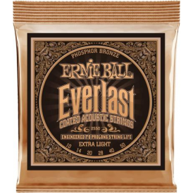 Ernie Ball 2550 Everlast Phosphor Bronze Acoustic Guitar Strings 10-50 Extra Light