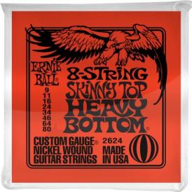 Ernie Ball 2624 8-String Nickel Wound 09-80 Electric Guitar Strings
