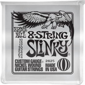 Ernie Ball 2625 Nickel Wound Electric Guitar Strings 10-74 8-String