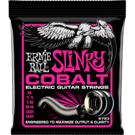 Ernie Ball 2723 Cobalt Electric Guitar Strings 09-42 Super Slinky