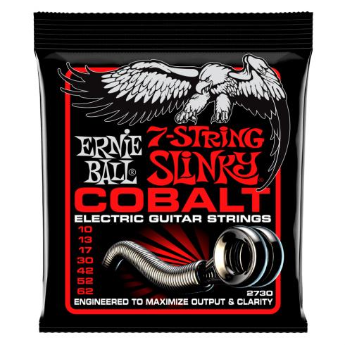 Ernie Ball 2730 Cobalt Electric Guitar Strings 10-62 7-String Skinny Top Heavy Bottom