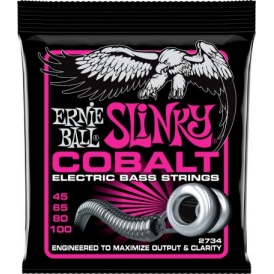 Ernie Ball 2734 Cobalt Bass Guitar Strings 45-100 Super Slinky