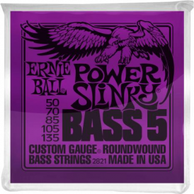 Ernie Ball 2821 Nickel Wound Bass Guitar Strings 50-135 5-String Power Slinky