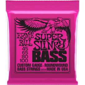 Ernie Ball 2834 Nickel Wound 4-String Bass Guitar Strings 45-100 Super Slinky