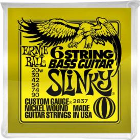 Ernie Ball 2837 Silhouette Nickel Baritone Guitar Strings 20-90 6-String
