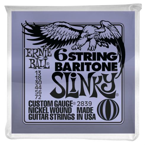 Ernie Ball 2839 Silhouette Nickel Baritone Guitar Strings 13-72 6-String