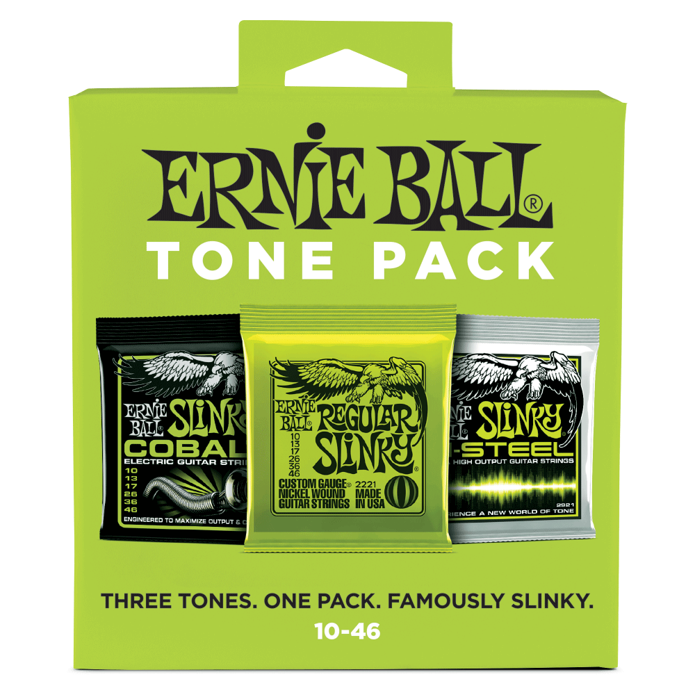 ernie ball 3331 regular slinky 10 46 tone pack electric guitar strings. Black Bedroom Furniture Sets. Home Design Ideas