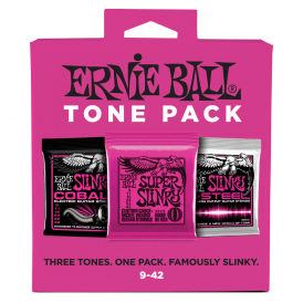 Ernie Ball 3333 Super Slinky 9-42 Tone Pack of Electric Guitar Strings, 2223