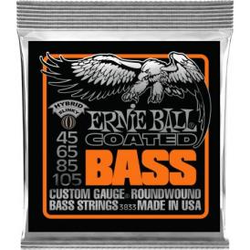 Ernie Ball 3833 Titanium Reinforced Coated Bass Guitar Strings 45-105 Hybrid Slinky