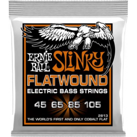 Ernie Ball 4-String Cobalt Hybrid Slinky 45-105 Flatwound Long Scale Bass Strings
