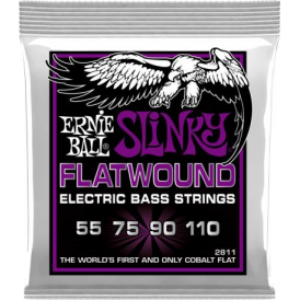 Ernie Ball 4-String Cobalt Power Slinky 55-110 Flatwound Long Scale Bass Strings