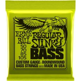 Ernie Ball 4-String Nickel Wound Regular Slinky 50-105 Long Scale Bass  2832