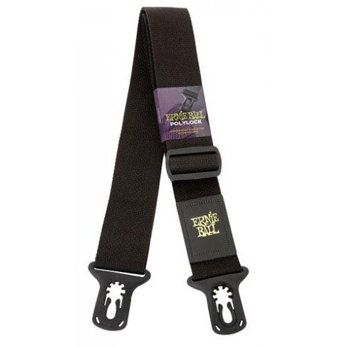 "Ernie Ball 4056 2"" Wide Polylock Black Strap for Guitar & Bass"