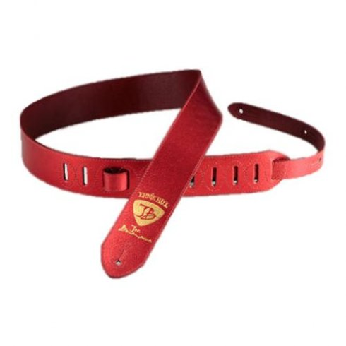 Ernie Ball 4080 Joe Bonamassa Red Foil Leather Strap