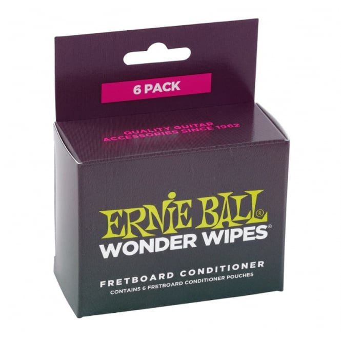 Ernie Ball 4276 Wonder Wipes 6-Pack Fretboard Conditioner