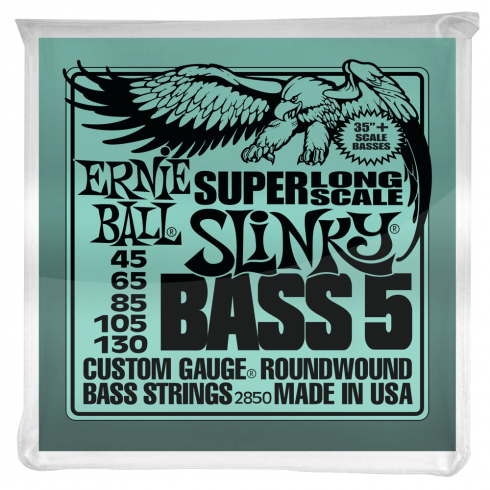 Ernie Ball 5-String Super Long Slinky 45-130 Nickel Wound Bass Strings