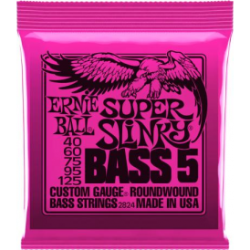 Ernie Ball 5-String Super Slinky 40-125 Nickel Wound Electric Bass Strings