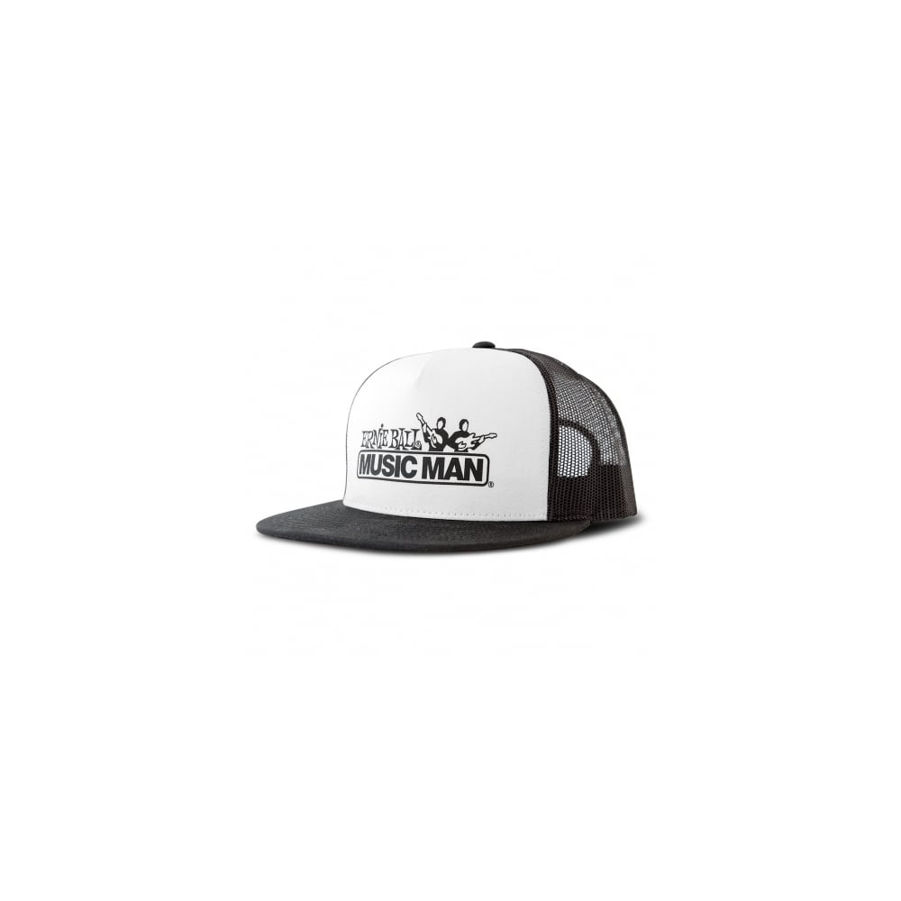 Ernie Ball Black and White Front Music Man Hat - Merchandise from Strings  Direct UK dad7e9c7706f