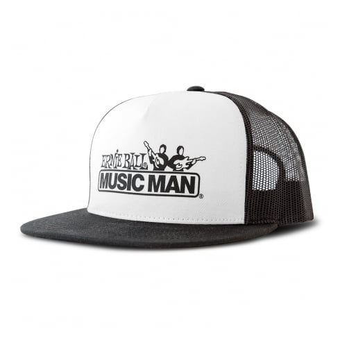 Ernie Ball Black and White Front Music Man Hat