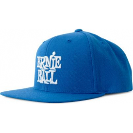 Ernie Ball Blue with Stacked White Logo Hat
