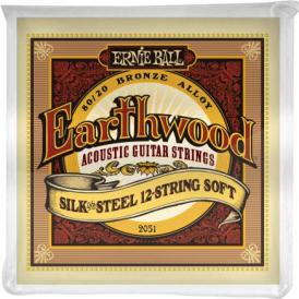 Earthwood 2051 80/20 Bronze Acoustic Guitar Strings 09-46 12-String Silk & Steel