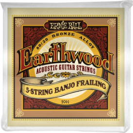 Earthwood 2061 80/20 Bronze Banjo 10-24 Frailing Strings Set